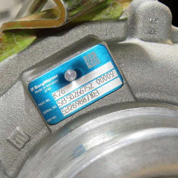 turbo k26 serial no sb50266752 00009 bw no 53269887103