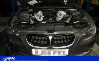 BMW 335i both turbochargers replacement, wastegate rattle problem fixed. Best Turbos turbocharger reconditioning and fitting.