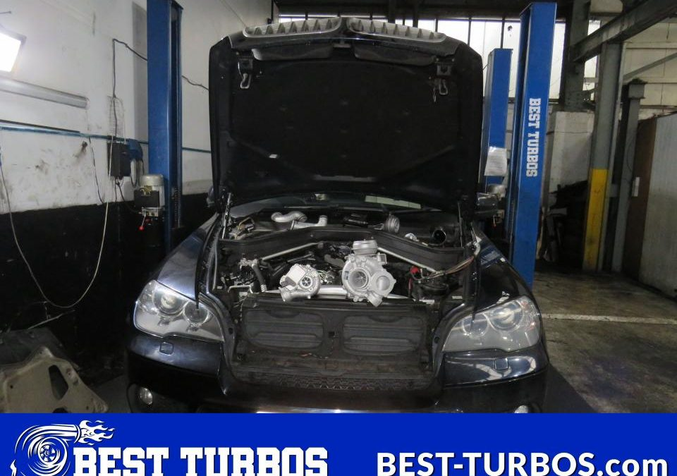 bmw x5 turbo turbocharger reconditioning blown gone smoke from exhaust limp mode no power whistling noise whining small turbo big turbo large recon for sale best turbos 11657808363 11657808361